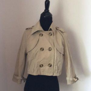 Cropped Zara TRF trench coat